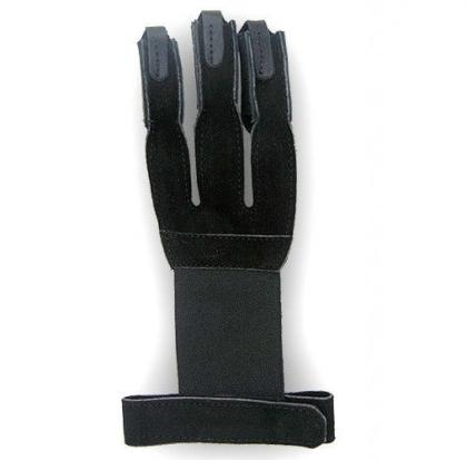 TRADITIONAL ARCHERY LEATHER SHOOTING GLOVE BLACK