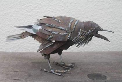 Decorative Metal Cow Bird