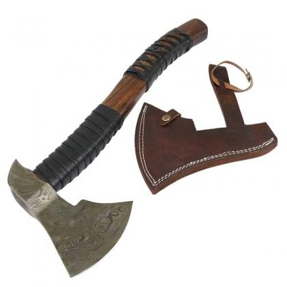 Custom Handmade Damascus Steel Throwing Axe