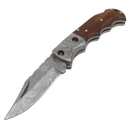 Damascus Blade Folding Knife