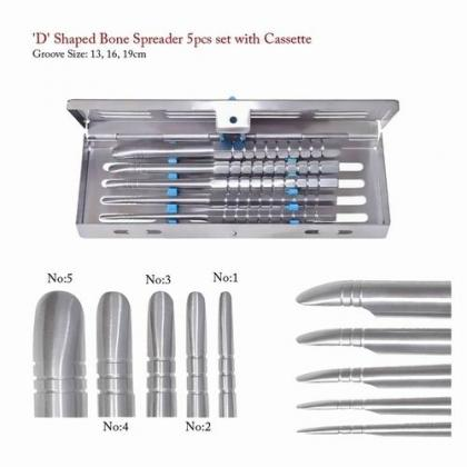 Tatum D Shaped Bone Spreaders 5pcs Set